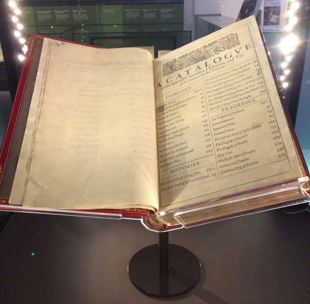 Shakespeare's comedies, histories & tragedies, London, 1623