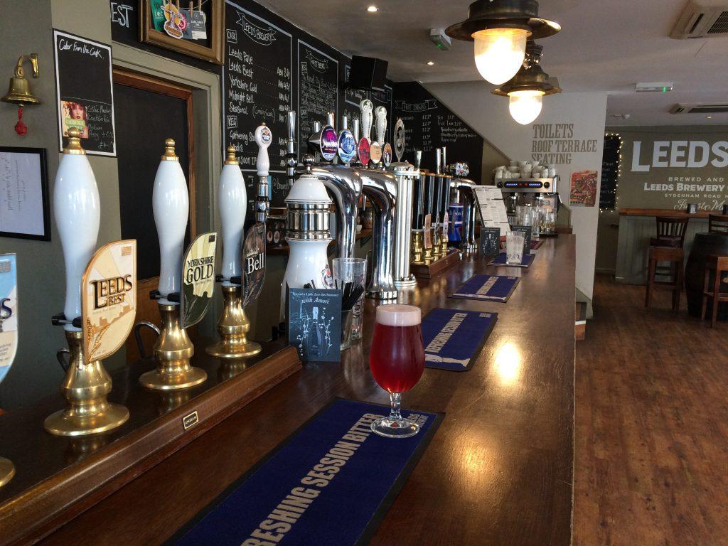 Brewery tap bar
