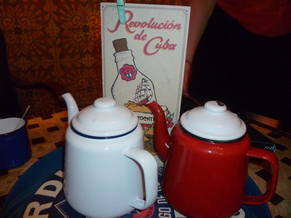 Two cocktail teapots