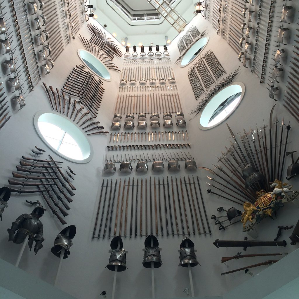 Stairwell display with over 2500 objects